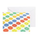 Summer fun smile face Greeting Cards (20 Pack)