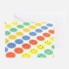 Smiley face stickers - Greeting Cards (Pk of 20)