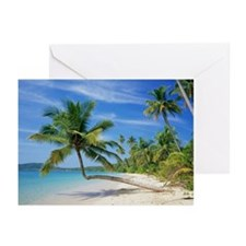 Tropical beach - Greeting Cards (Pk of 20)