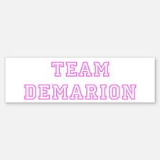 Pink team Demarion Bumper Bumper Bumper Sticker