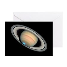 Aurora on Saturn - Greeting Cards (Pk of 20)