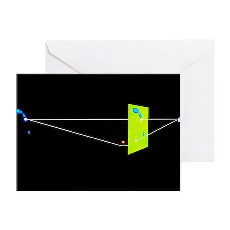 Diagram of gravitational focusing of double quasar