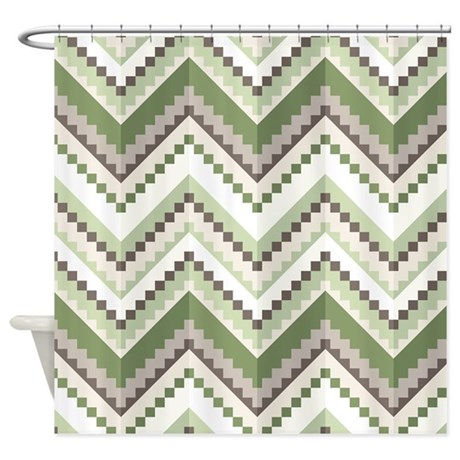 Green native pattern shower curtain by bestshowercurtains - Green curtain patterns ...