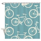 Bike decor Shower Curtains