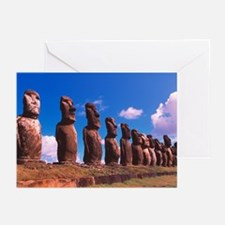 Easter Island statues - Greeting Cards (Pk of 20)