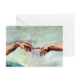 Creation of adam god head Greeting Cards (20 Pack)