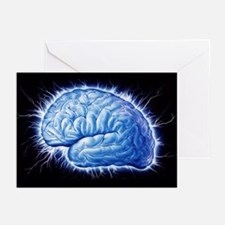 Human brain - Greeting Cards (Pk of 20)