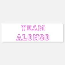 Pink team Alonso Bumper Bumper Bumper Sticker
