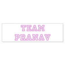 Pink team Pranav Bumper Bumper Sticker