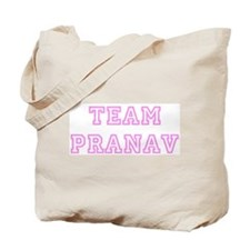 Pink team Pranav Tote Bag