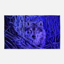 Night Warrior Wolf 3'x5' Area Rug