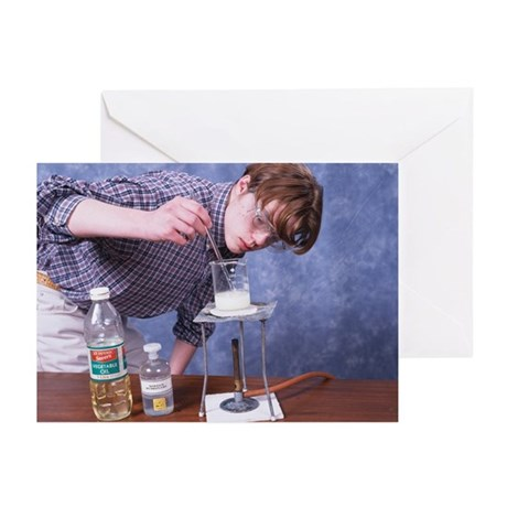 Student making soap - Greeting Cards (Pk of 20)