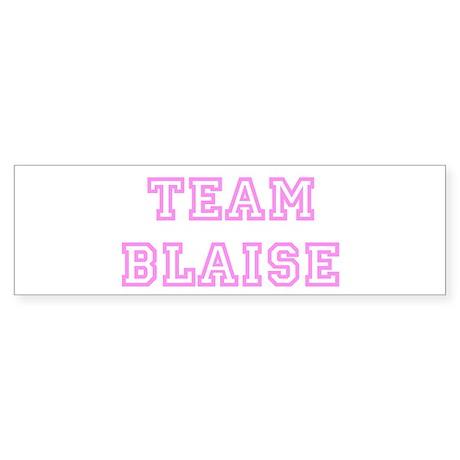 Pink team Blaise Bumper Sticker