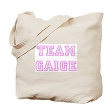 Pink team Gaige Tote Bag