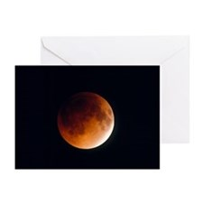 Total lunar eclipse, partial phase - Greeting Card
