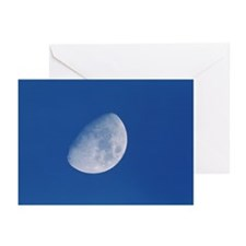 View of a gibbous moon - Greeting Cards (Pk of 20)