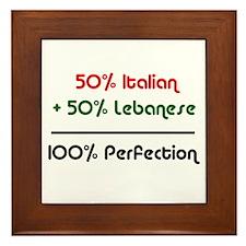 Italian & Lebanese Framed Tile