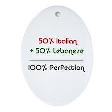 Italian & Lebanese Oval Ornament