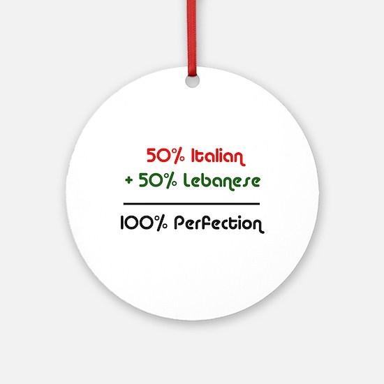 Italian & Lebanese Ornament (Round)