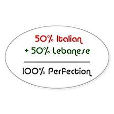 Italian & Lebanese Oval Decal