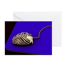 Computer mouse skeleton, computer artwork - Greeti