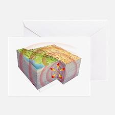 Earthquake waves, artwork - Greeting Cards (Pk of