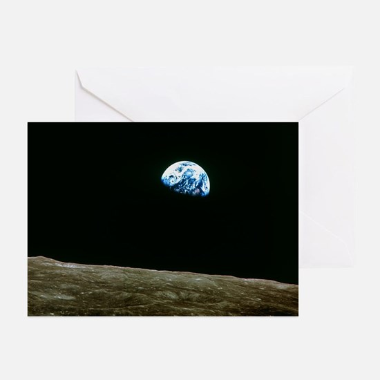 Earthrise over Moon, Apollo 8 - Greeting Cards (Pk