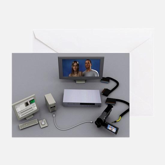 Home video editing, computer artwork - Greeting Ca