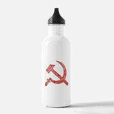 Hammer and Sickle Red Splatter Water Bottle