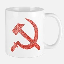 Hammer and Sickle Red Splatter Mug