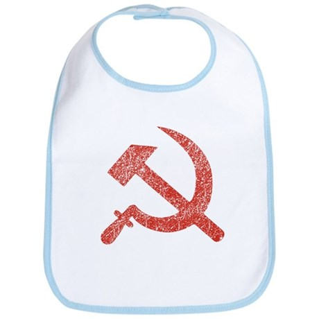 Hammer and Sickle Red Splatter Bib