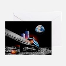 Moon monorail - Greeting Cards (Pk of 20)
