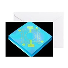 Microscopic pressure sensor - Greeting Cards (Pk o