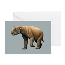 Prehistoric giant wombat, artwork - Greeting Cards