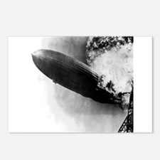 Burning Zeppelin Postcards (Package of 8)