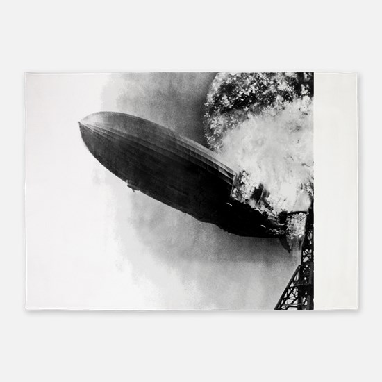 Burning Zeppelin 5'x7'Area Rug