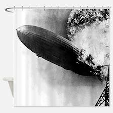 Burning Zeppelin Shower Curtain