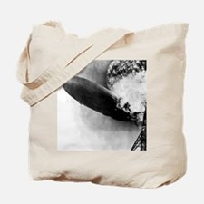 Burning Zeppelin Tote Bag