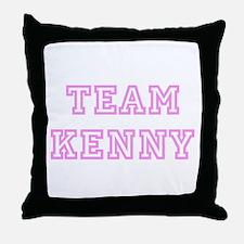 Pink team Kenny Throw Pillow