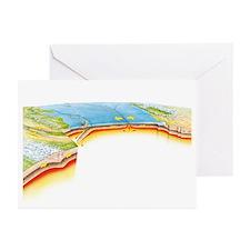 Tectonic plate boundaries - Greeting Cards (Pk of