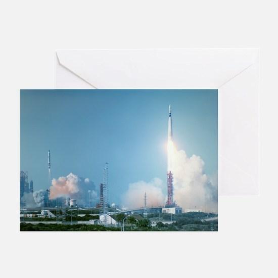 Atlas-Agena rocket launch for Gemini 8 - Greeting