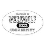 Werewolf University Property Oval Sticker