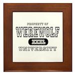 Werewolf University Property Framed Tile