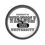 Werewolf University Property Wall Clock