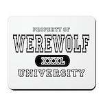 Werewolf University Property Mousepad