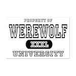 Werewolf University Property Mini Poster Print