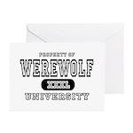 Werewolf University Property Greeting Cards (Packa