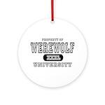 Werewolf University Property Ornament (Round)