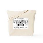 Werewolf University Property Tote Bag