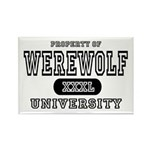 Werewolf University Property Rectangle Magnet